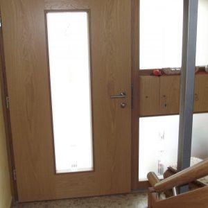 Holz-Alu Türe von innen