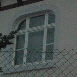renoviertes denkmalgeschütztes Fenster