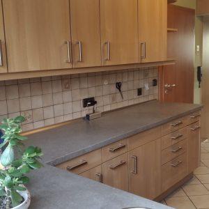 Erneuern der Fronten und Arbeitsplatte an einer bestehenden Küche